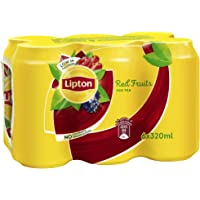 Lipton Red Fruits Ice Tea, Non-Carbonated Low Calories Refreshing Drink,320mlx6