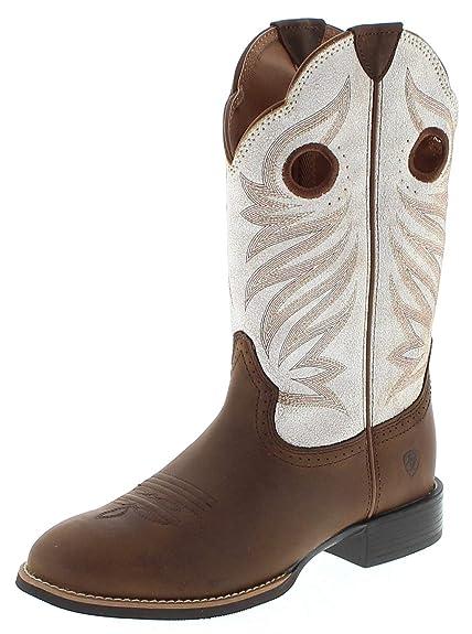 908f5ebeef FB Fashion Boots - Botas de Vaquero de Cuero Mujer  Amazon.es ...
