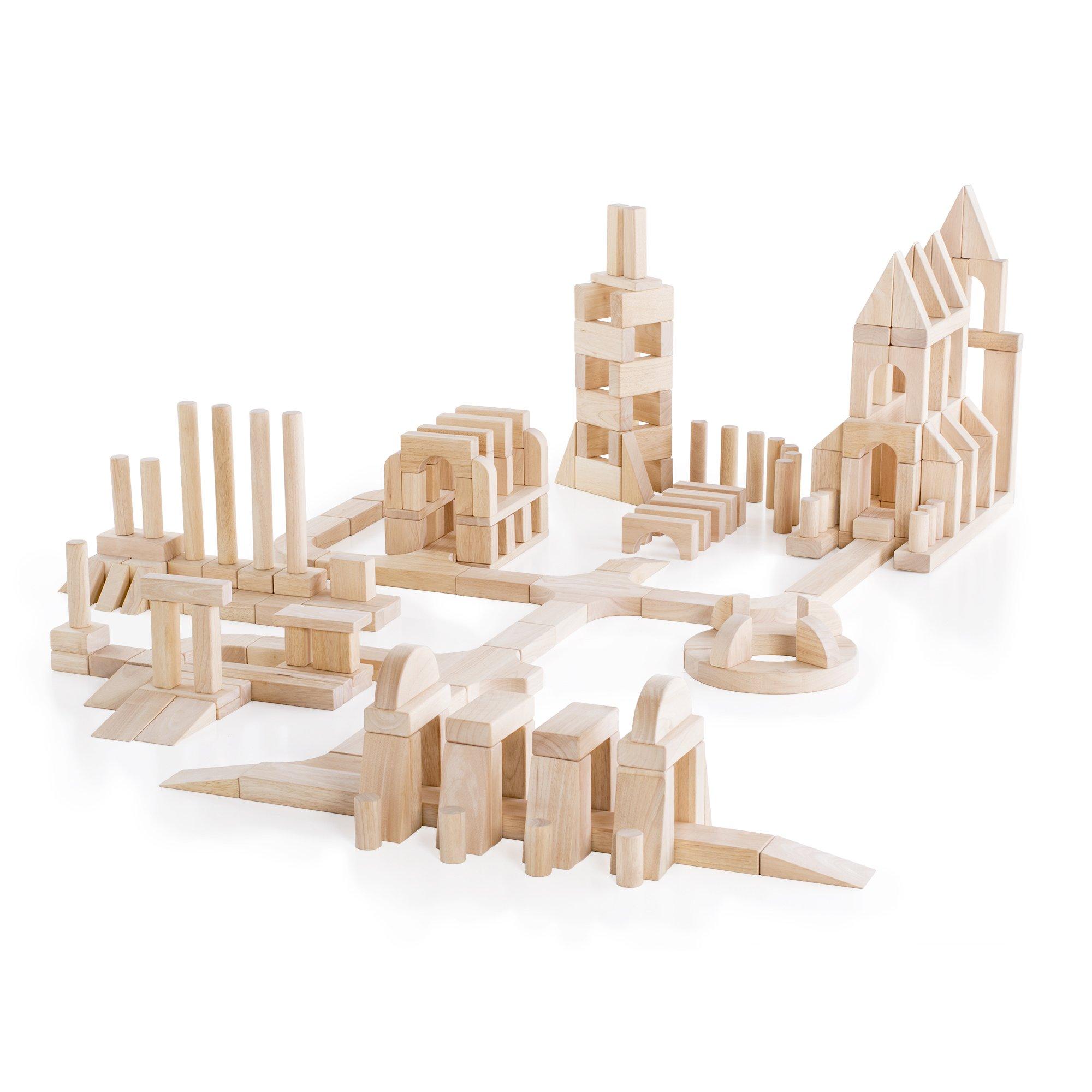 Guidecraft Unit Blocks Set E - 218 Piece Set - STEM Educational Toy for Kids