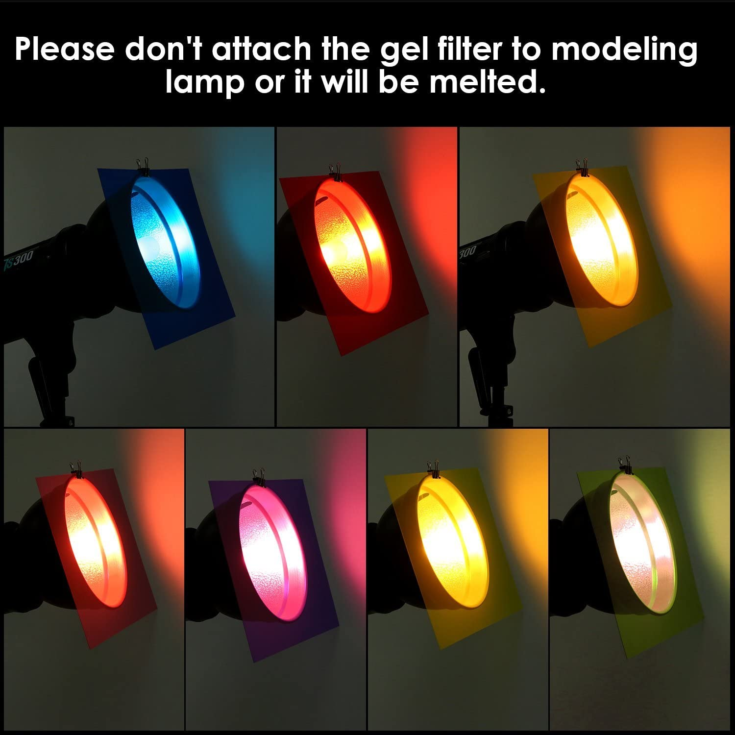 10 Pack Gel Filter Transparency Film Color Plastic Sheets Colored Overlays Correction Gels Light Filter Flash Lighting Holiday Decorations,11.7 by 8.3 Inches Assorted Colors
