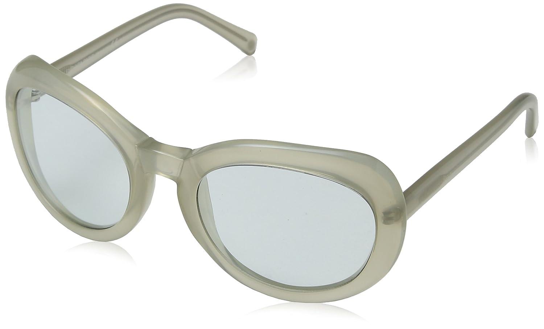 Balenciaga Women''s BAL 0128/S O2M Sunglasses, White (Weiß), 50 1000895_Grey-55