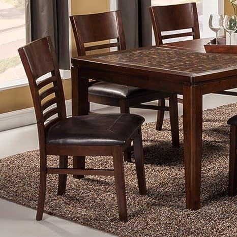Groovy Amazon Com Alpine Furniture Granada Dining Chairs Set Of Short Links Chair Design For Home Short Linksinfo