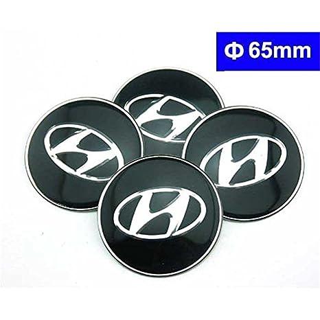 Guoyuanzed - 4 piezas C075 65 mm negro coche estilo accesorios emblema insignia pegatina tapas de