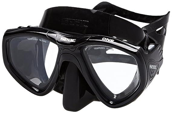Seac Máscara ONE S/BL - Gafas de buceo, color negro