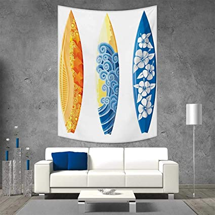 Smallbeefly Surf Home Decorations For Living Room Bedroom Ornate Colorful Surfboards Vocation Fun Water Sports Moving