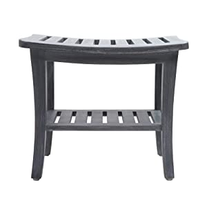 Redmon Since 1883 5324GY Shower Bench, Weathered Gray