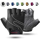 Tanluhu Cycling Gloves/Bike Gloves Half Finger Road Riding Gloves,Light Anti-Slip Shock-Absorbing Biking Gloves for Men and Women