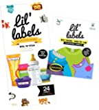 Lil' Labels Daycare Value Pack Bottle and Clothing Labels, Waterproof, Animal Friend, Highlighter