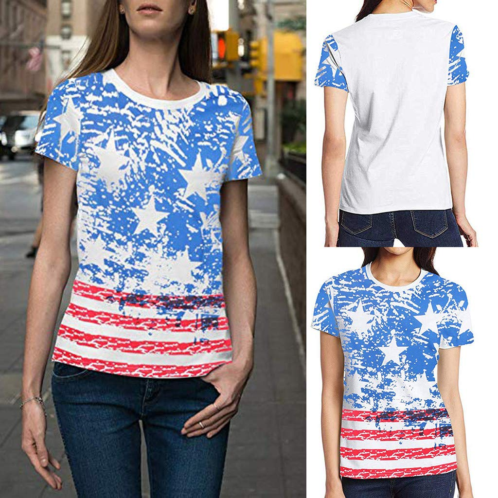 AKwell Women I Like The United States and Have a Willie Nice Day Short-Sleeved T-Shirt O-Neck Casual top.