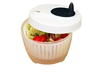 ExcelSteel 602 Functional, Fruits, Vegetables Mini Salad Spinner 1.4 Qt White