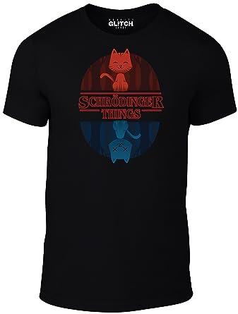 844e79097 Reality Glitch Men's Schrodinger Things T-Shirt: Amazon.co.uk: Clothing