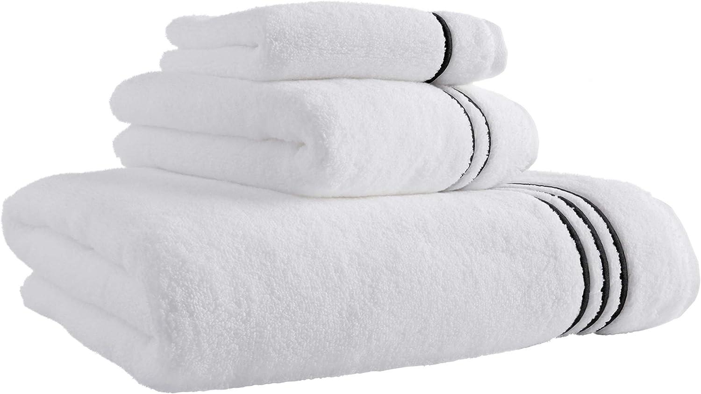Stone & Beam Hotel Stitch 3-Pieces Cotton Towel Set