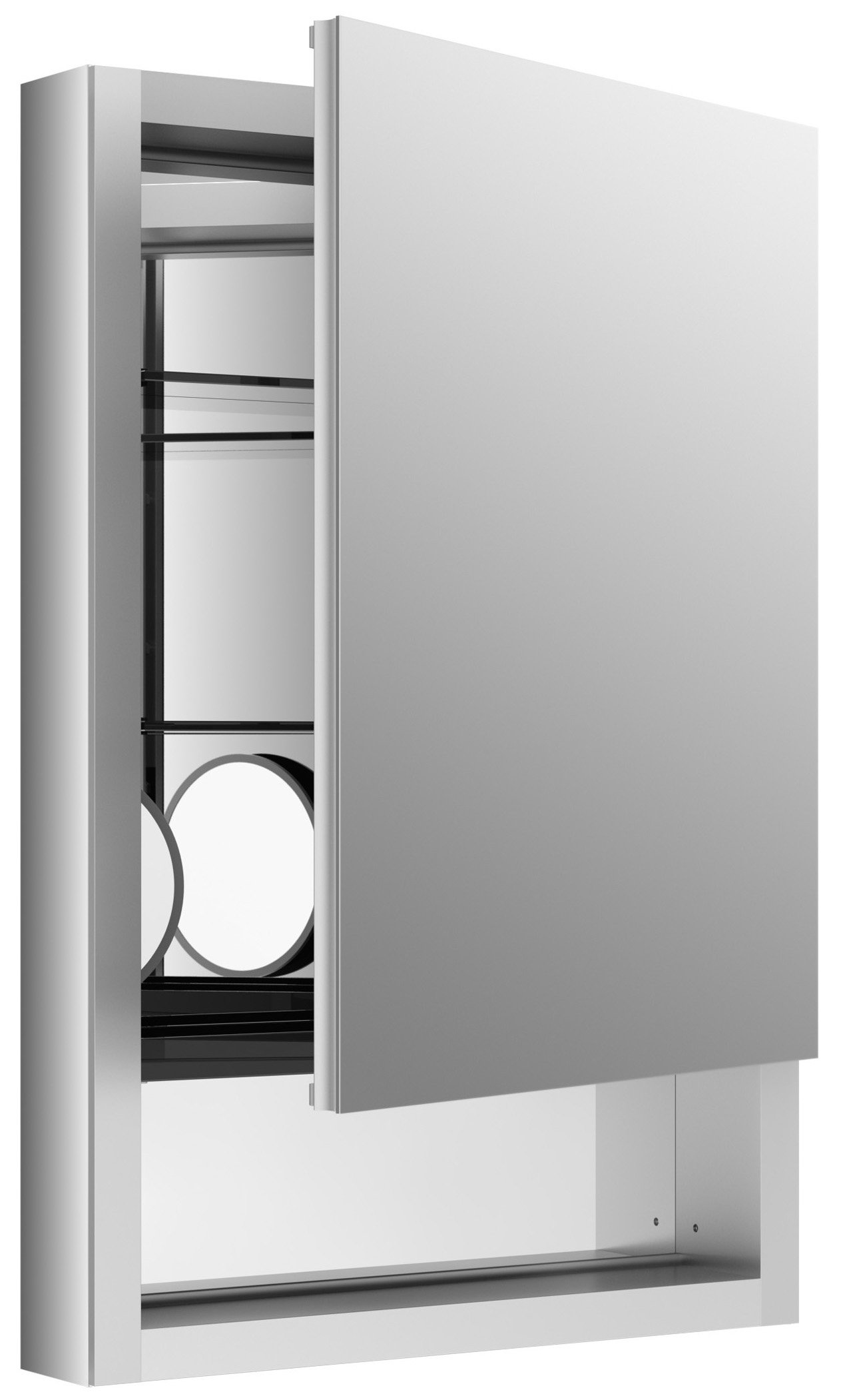 KOHLER K-99005-R-NA Verdera 20-Inch By 30-Inch Quick-Storage Medicine Cabinet With Magnifying Mirror, Right Hinge