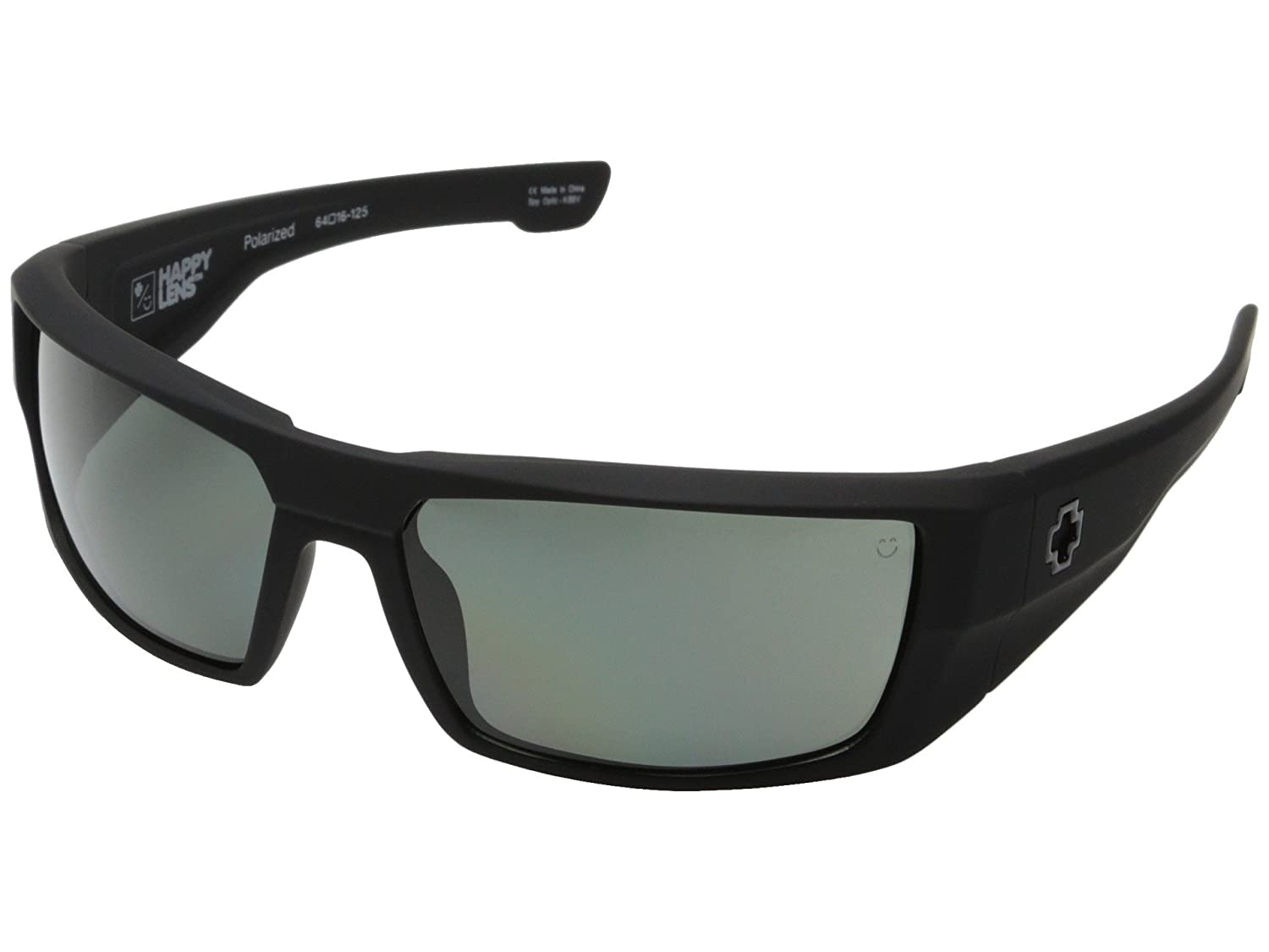 a01577f7d7 Amazon.com  Spy Dirk Sunglasses Soft Matte Black with Happy Grey Green  Polarized Lens  Shoes