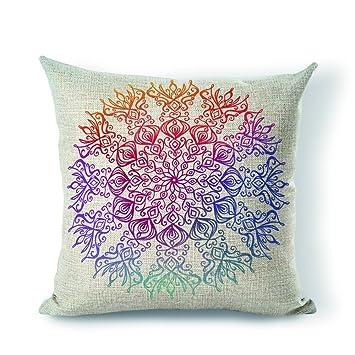 Amazon.com: starflowss almohada funda de almohada Mandala ...