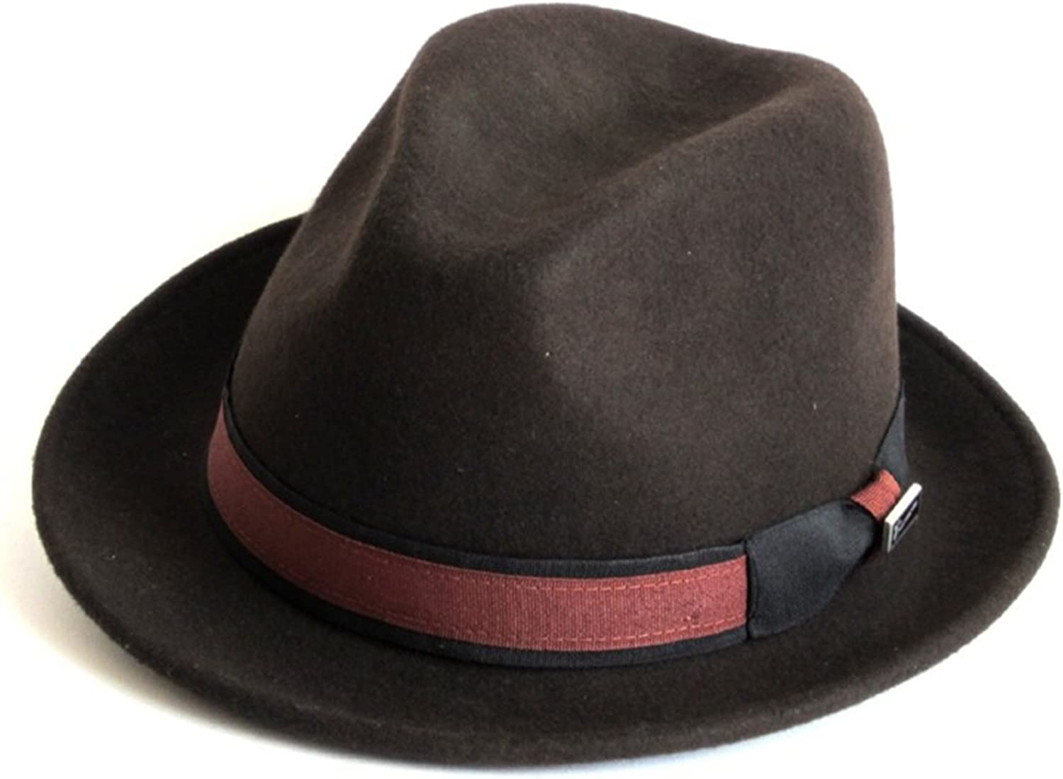 Dasmarca Winter Crushable Packable Twotone Felt Fedora Hat