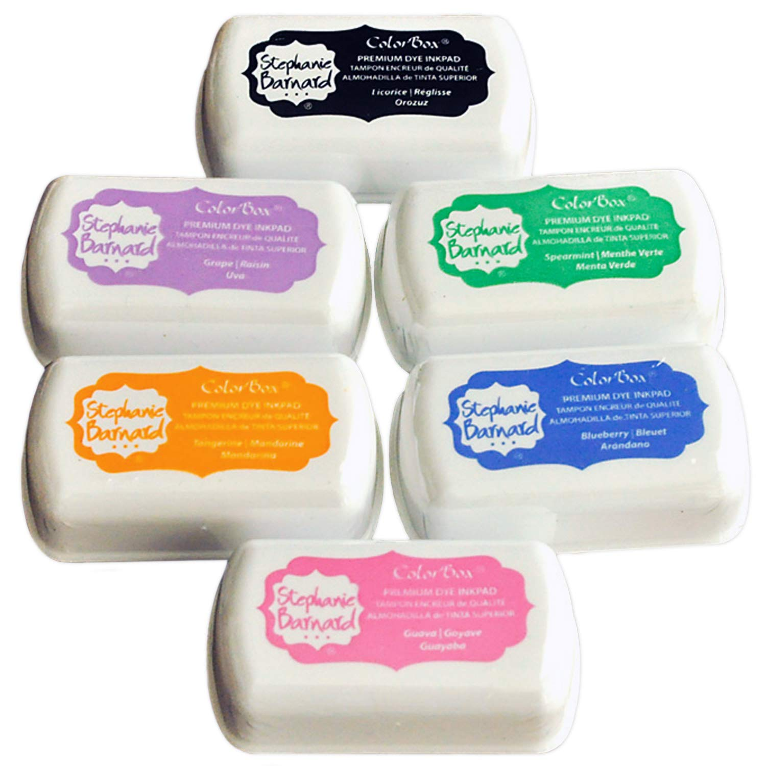 Premium Stamp Ink Pad Multi Pack by ColorBox and The Stamps of Life - Small Ink Pads (Set A)