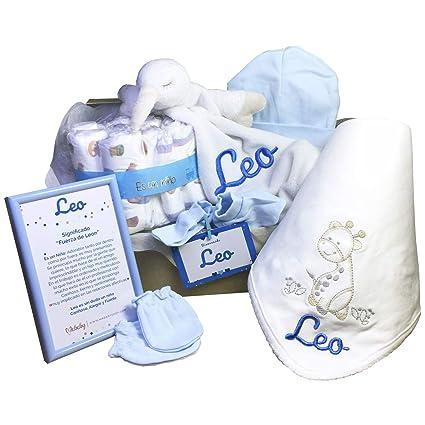 MabyBox Funny Dou Dou   Canastilla Bebé   Regalo Bebé Personalizado   Canastilla Personalizada   Cesta Bebe (Azul)