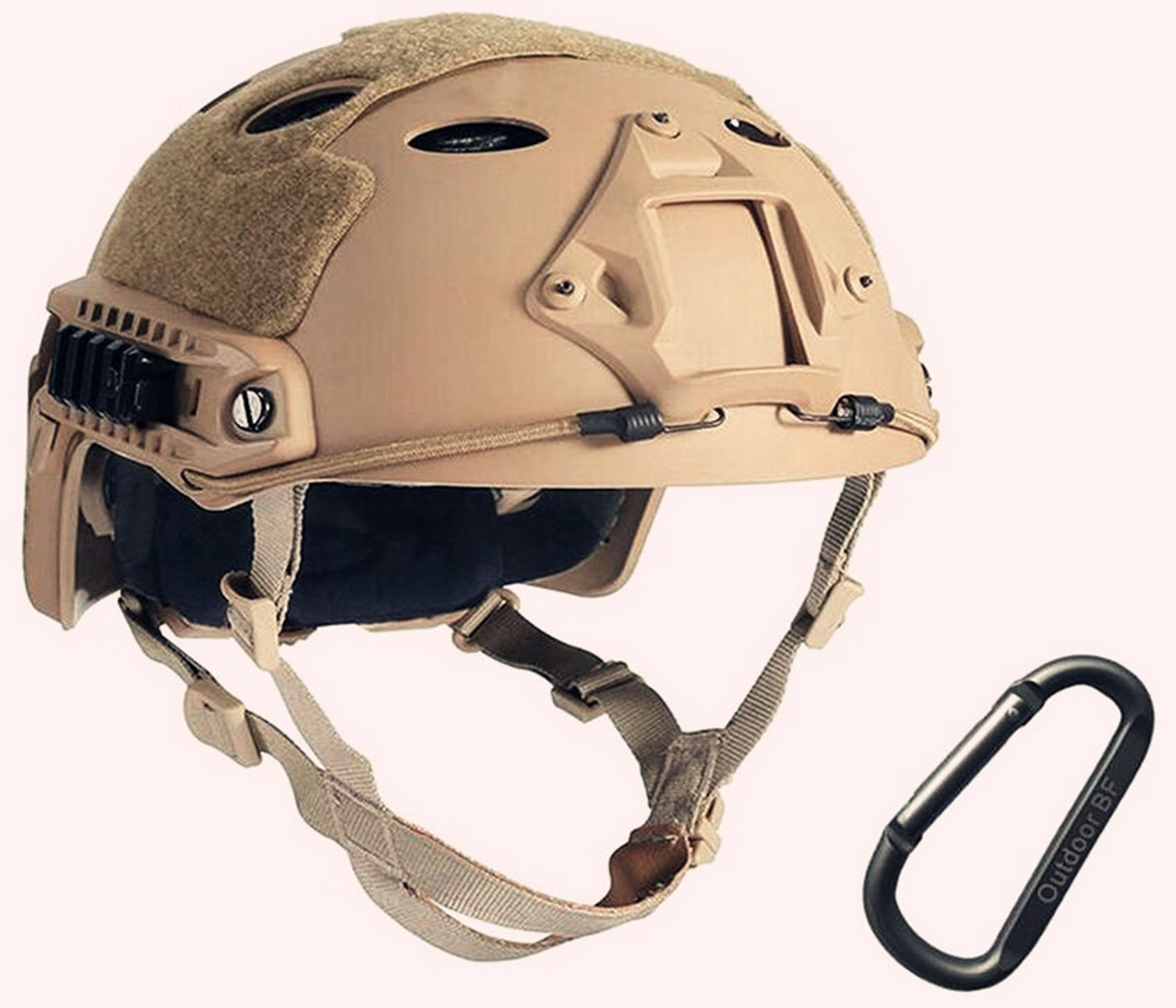 Tactical Fast Adjustable Helmet PJ Type (Tan) by Outdoor BF