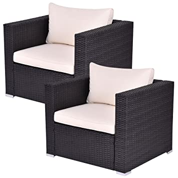 Amazon.com : Tangkula Outdoor Wicker Furniture Set ...