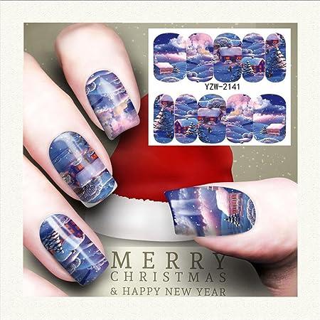 Xshuai Nail Art Tampon Stamping Modèle Père Noël Cerf Flocon