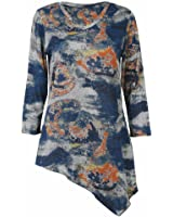 Women's Parsley & Sage Tempest Asymmetrical 3/4 Sleeve Tunic Top