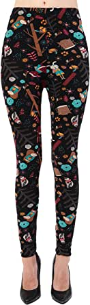 VIV Collection Buttery Soft Printed Leggings Seasonal Designs REG/Plus