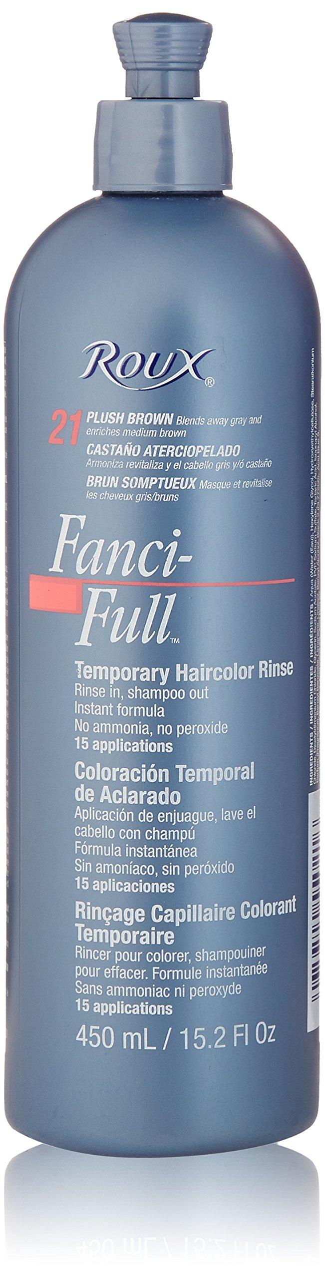 Amazon Fanci Full Temporary Hair Color 21 Plush Brown 9 Oz