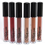 KLEANCOLOR FULL 6 SHADES MADLY MATTE LIP GLOSS NATURAL NUDE BEIGE BROWN LIQUID LG1815 + FREE EARRING