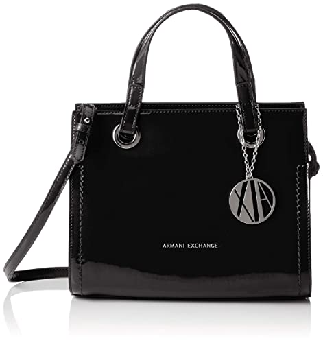 843653d7c6 Armani Exchange Small Shopping Bag, Women's Tote, Black, 21x13.5x27 ...