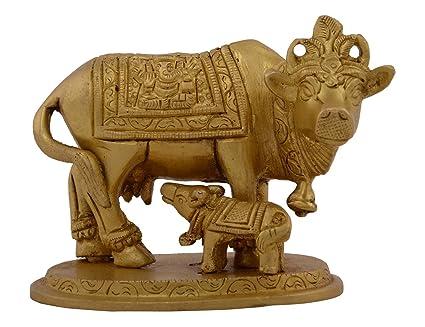 Amazon Com Kapasi Handicrafts Emporium Cow With Calf Standing