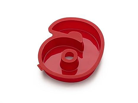 Lékué Celebrate - Molde para pastel, número 6, color rojo