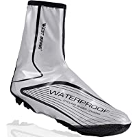 LuTuo Overshoes Waterproof Cycling Shoe Covers, Warm Windproof Neoprene Hi Viz Rain Snow Boot Protector Feet Gaiters