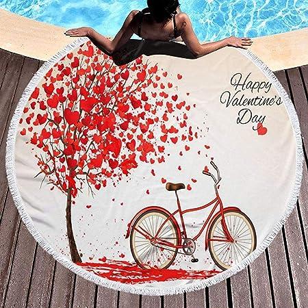 Manta Redonda de Toalla de Playa con borlas Bicicleta y un ...