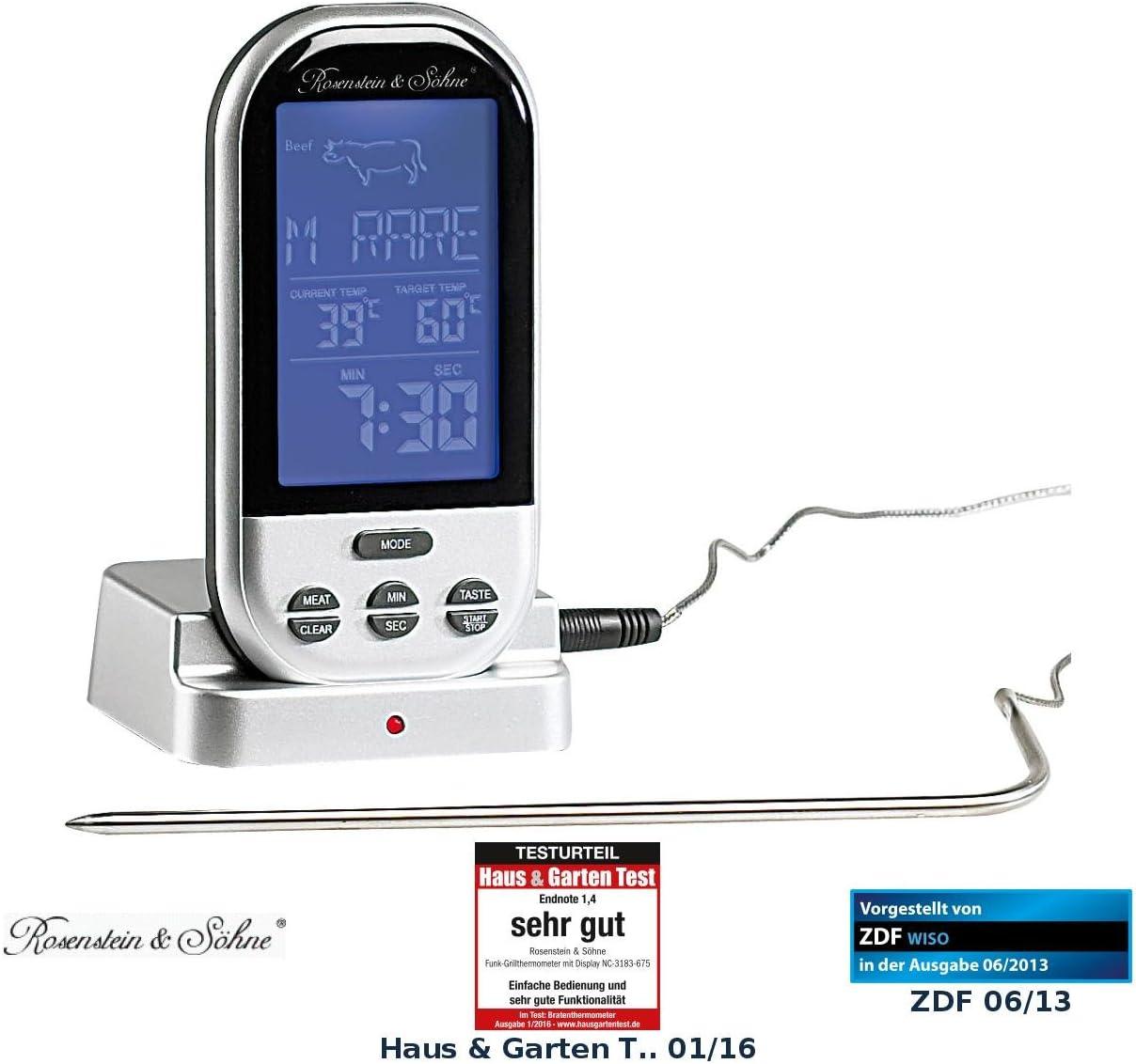 Backofenthermometer Fleischthermometer Kerntemperaturmesser Sonde Digital Tester