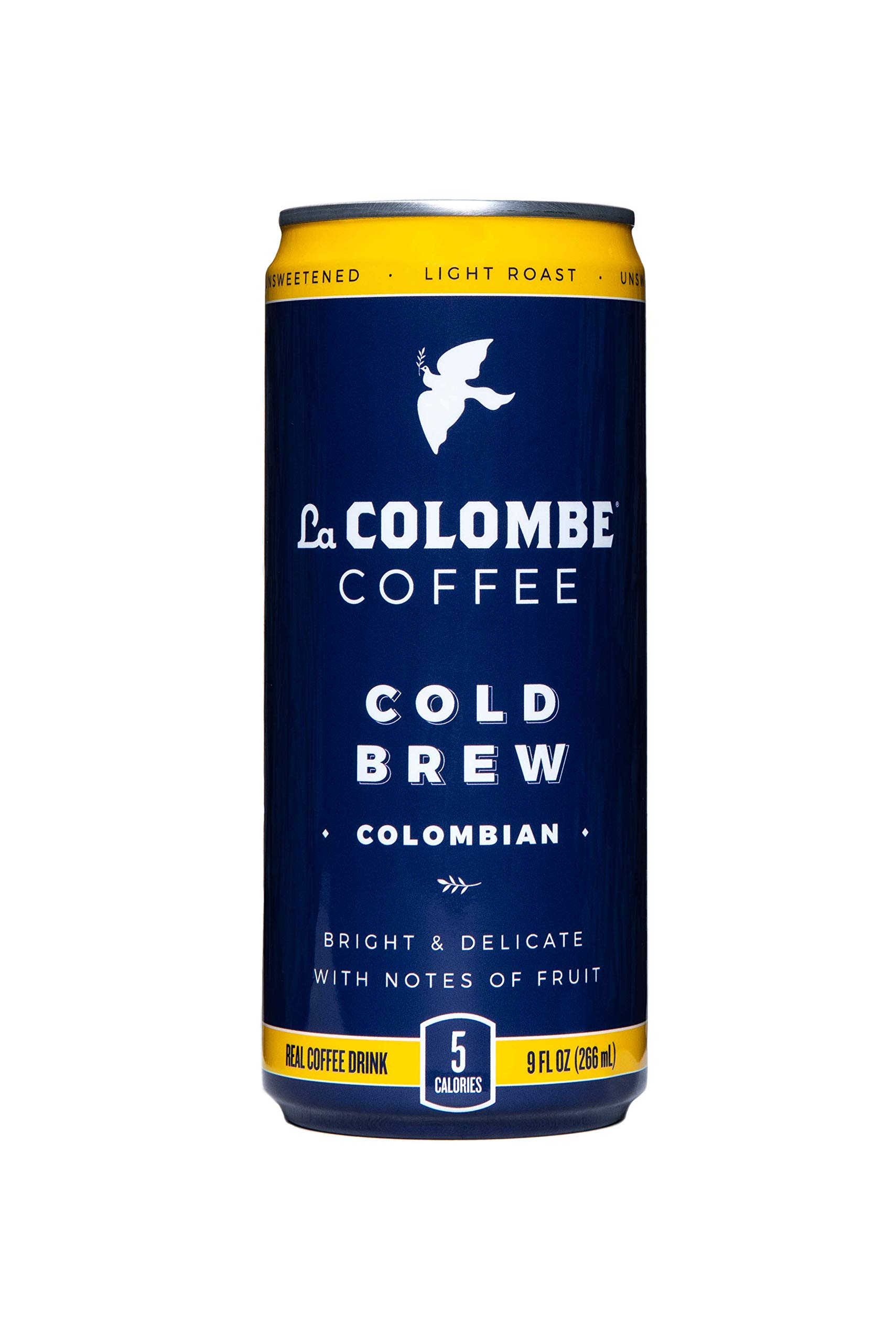 La Colombe Pure Black Colombian Cold-Pressed Coffee - 9 Fluid Ounce, 16 Count - Light Roast, Single-Origin Cold Brew - Made With Real Ingredients - No Sugar Added - Grab And Go Coffee