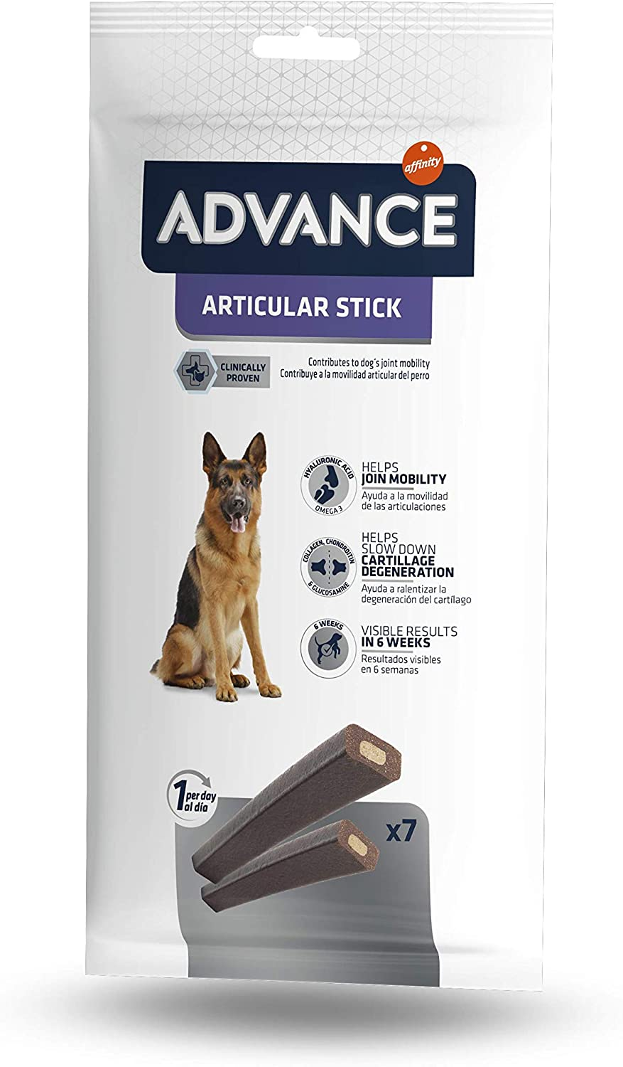 Advance Snacks Articular Stick para Perro - Paquete de 14 x 155 gr - Total 2170 gr