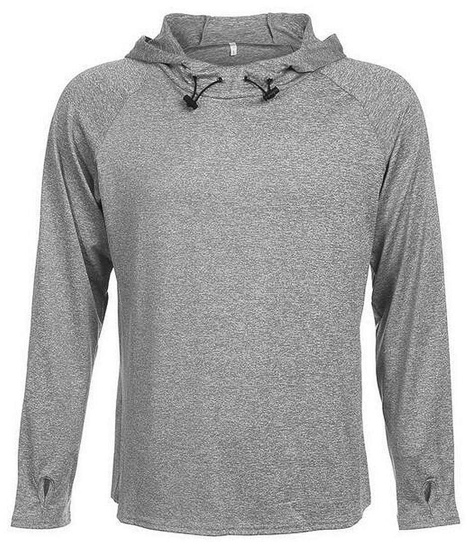 Fubotevic Mens Running Trainning Slim Fit Fall /& Winter Solid Color Hooded Sport Pullover Sweatshirt