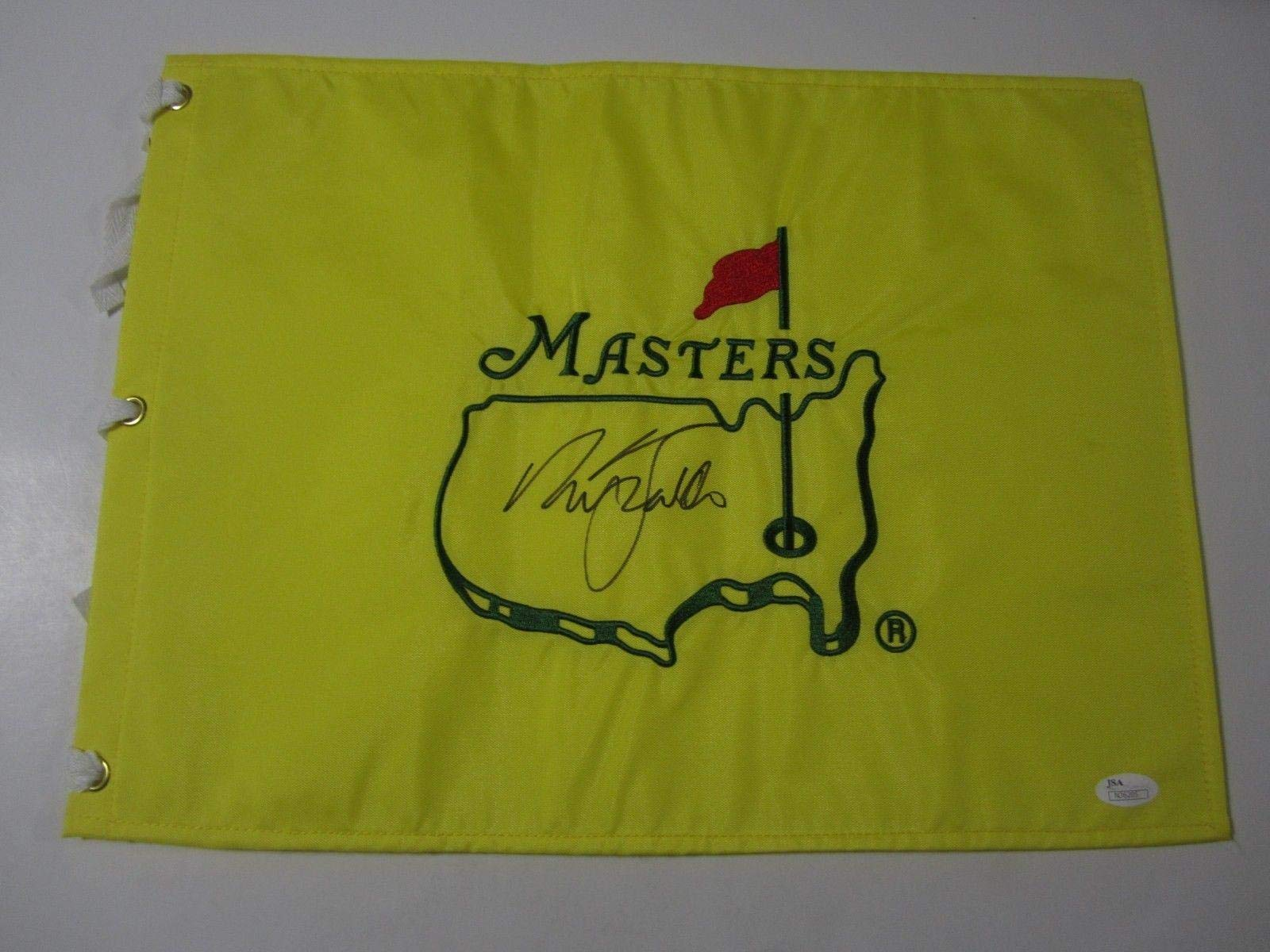 Nick Faldo Signed autographed Yellow Undated Master Flag WINNER RARE COA JSA Certified Autographed Pin Flags