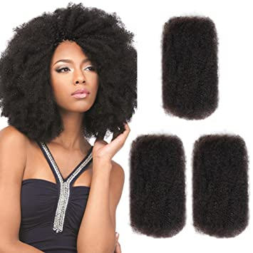 Amazon Com Style Icon 3 Bundles Afro Kinkys Bulk Human Hair 12 12