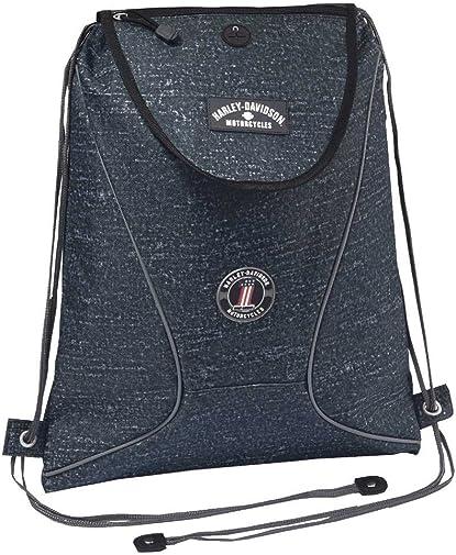 Harley-Davidson Sling Backpack, Lightweight Durable Blue Rain Design 99667 BR