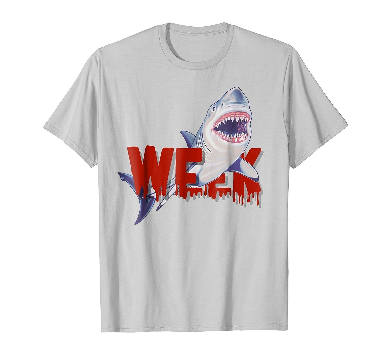 Bloody week of the Shark shirt, Great White shark t shirt-mt