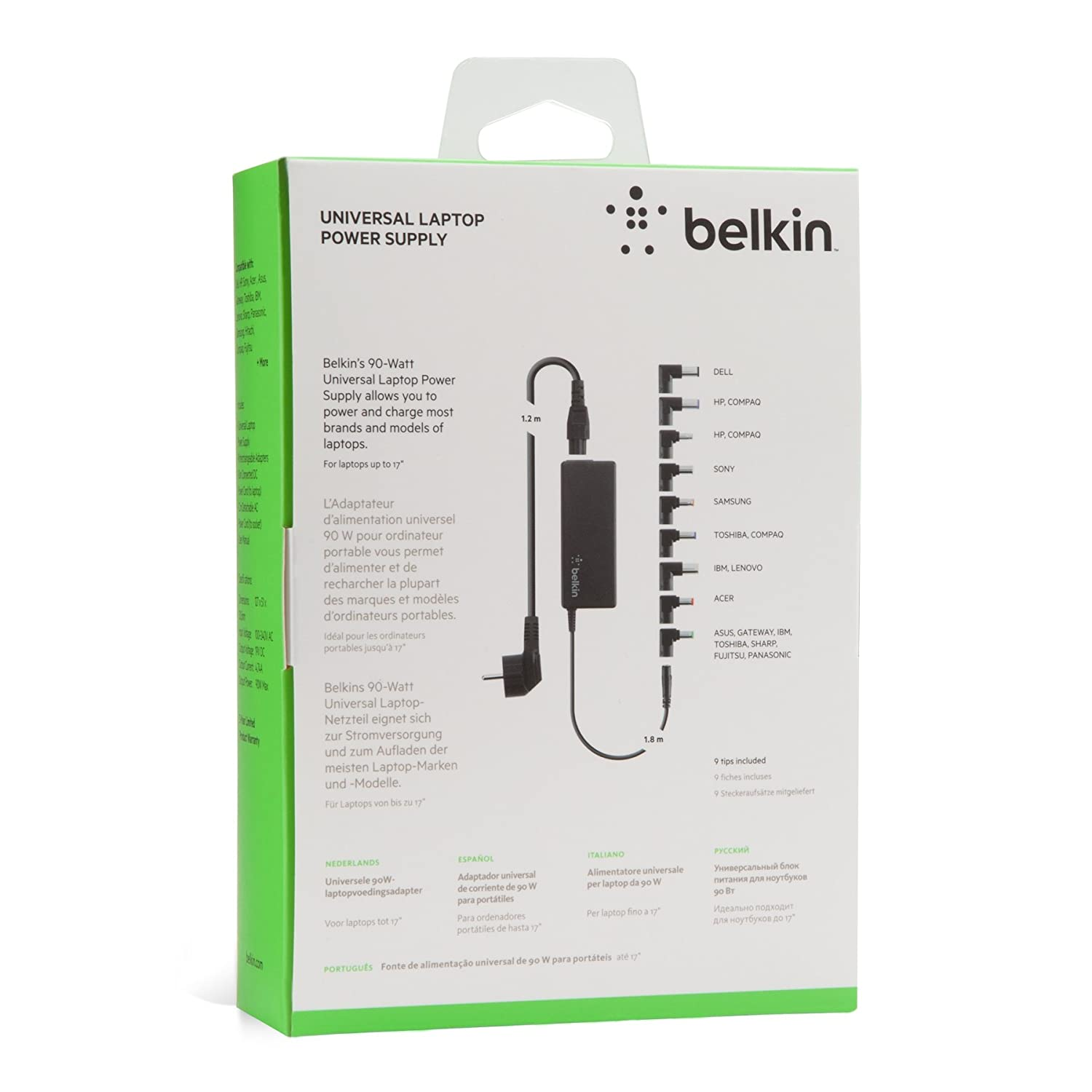 Amazon.com: Belkin 90W Universal AC/DC Power Adapter - F5L135cw90W: Home Audio & Theater