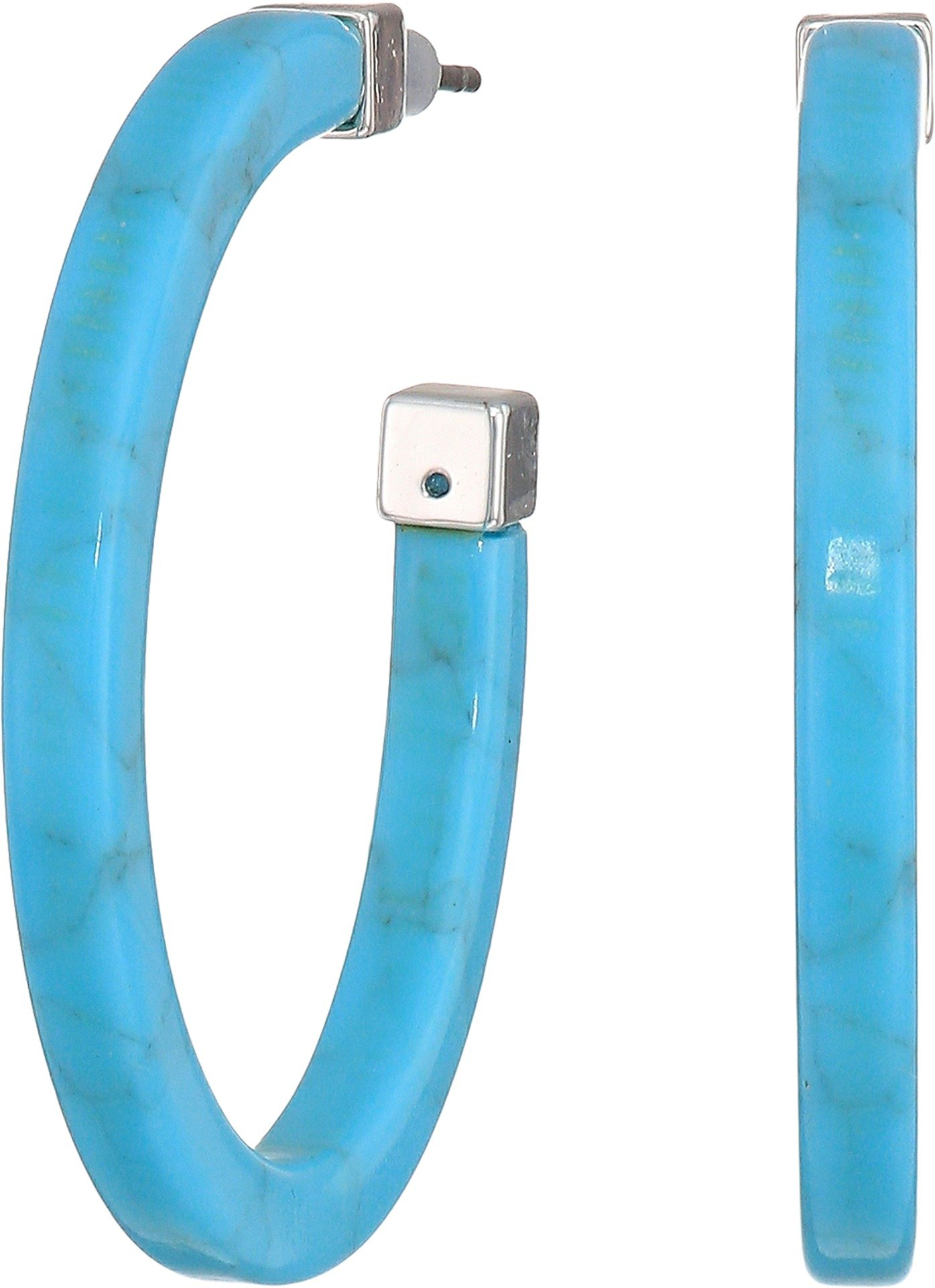 LAUREN Ralph Lauren Women's Turquoise Hoop Earrings Turquoise One Size