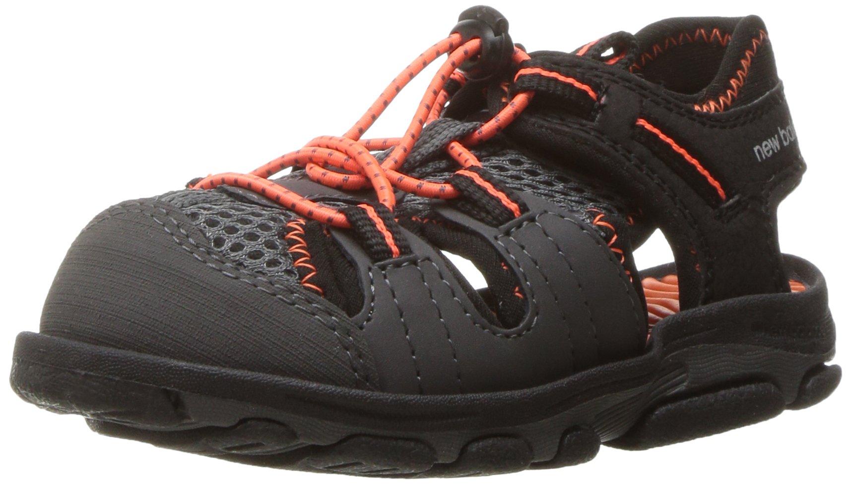 new products how to serch Sales promotion New Balance Boys' Kids Adirondack Sandal Fisherman, Black/Orange, 8 W US  Toddler