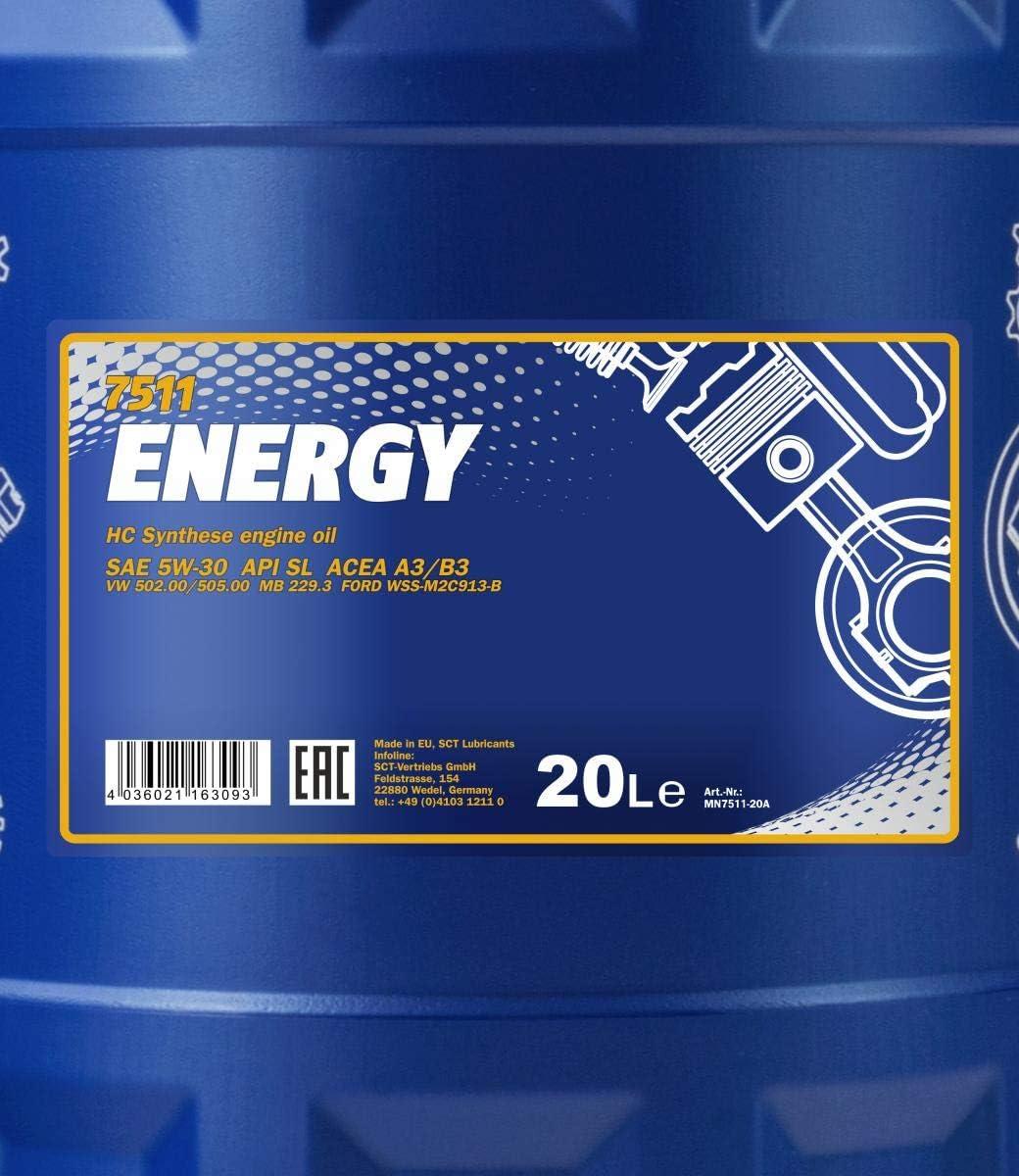Mannol 20l Energy 5w 30 Motorenöl Api Sl 5w30 Öl Motoröl Auslaufhahn Auto