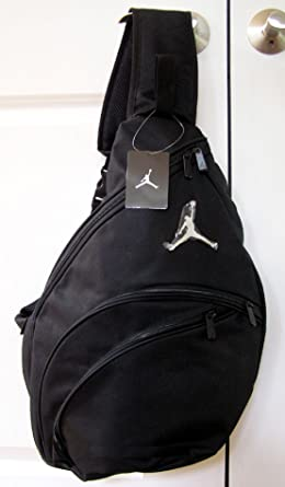 Nike Air Jordan Black and Blue Sling