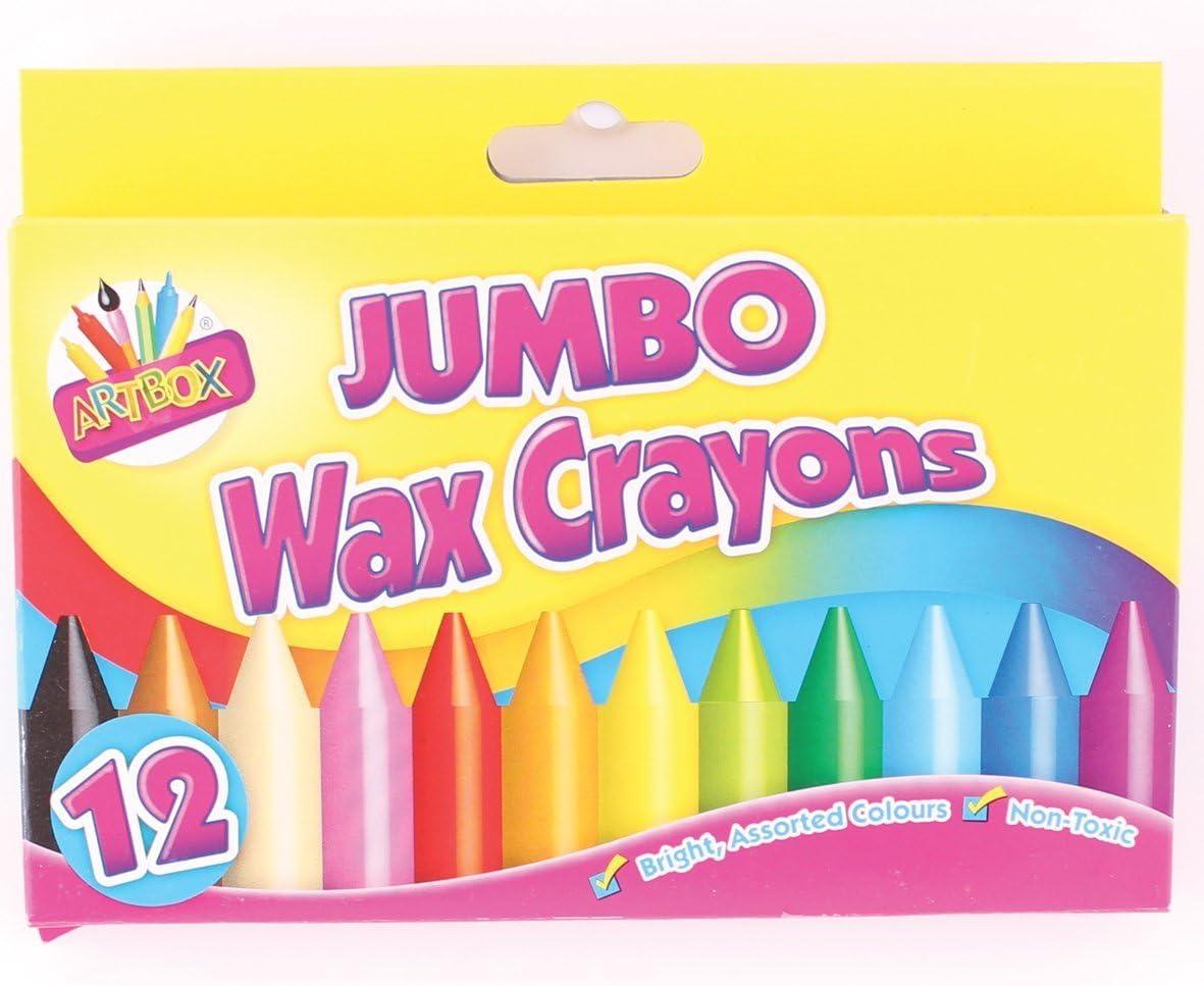 2X Artbox 12 jumbo size wax crayons set of 12 assorted colours