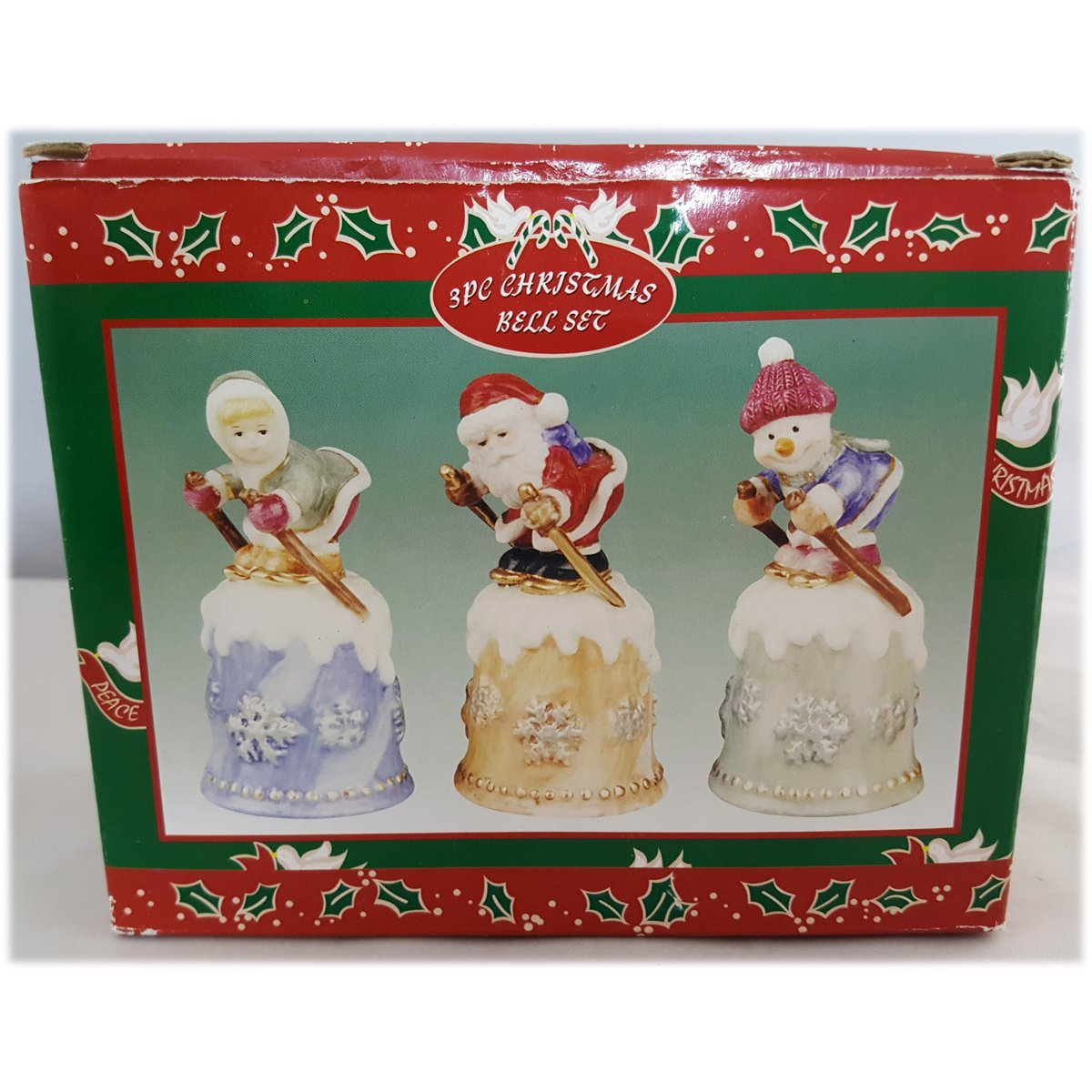 Price Products 3 Piece Christmas Bell Set - Skiing-Santa-Snowman-Girl