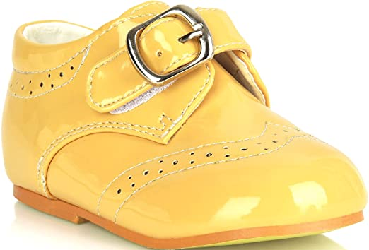 43e9e0adfc5a Amazon.com  Boys Shoes For Weddings Formal White Smart Buckle Up Christening  Size Party Kids Age Size 1 2 3 4 5 6 7 8 Years  Clothing